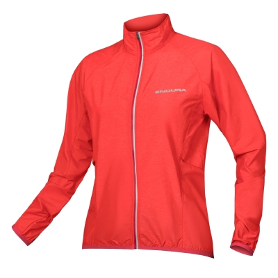 Endura Women's Pakajak Ultra-packable Windproof Jacket, Hi-Viz Coral