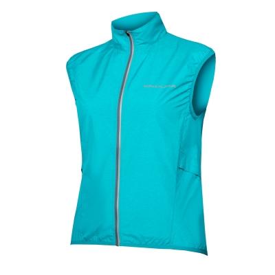 Endura Women's Pakagilet Ultra-packable Windproof Gilet, Pacific Blue