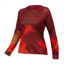 Endura Women's MT500 Animo Long Sleeve Jersey, Paprika
