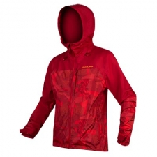 Endura SingleTrack Waterproof Jacket, Rust Red