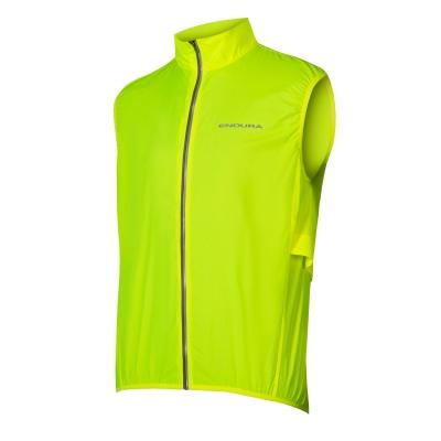 Endura Pakagilet Ultra-packable Windproof Gilet, Hi-Viz Yellow