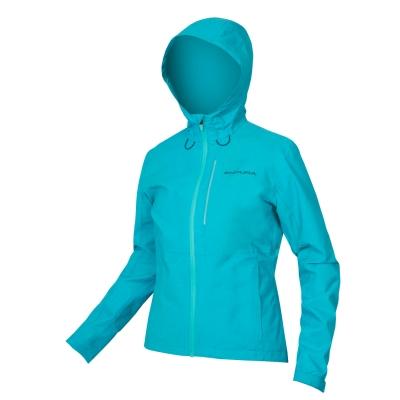 Endura Women's Hummvee Waterproof Hooded Jacket, Pacific Blue