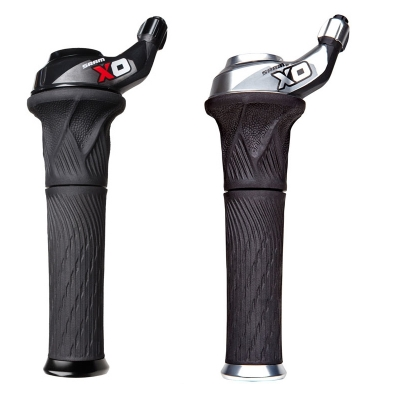 SRAM X0 Grip Shifters, 3x10, Lock-On Stationary Grips