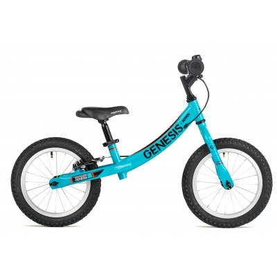 Genesis Scoot XL Beginner Balance Bike, 14in Wheel, Bright Blue 2018