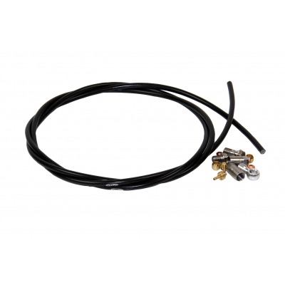 Hope Brake Hose, 5mm Black, Includes 90 and Straight Connectors