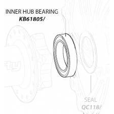 Leonardi Lefty Hub Inner Bearing, Cannondale KB61805