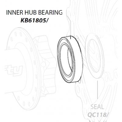Leonardi Lefty Hub Inner Bearing, Cannondale KB61805