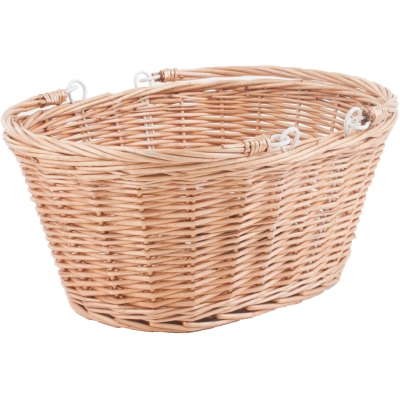 MPart Borough oval wicker basket with handles and quick release bracket
