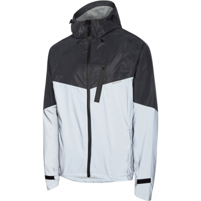 Madison Stellar Reflective Men's Waterproof Jacket, Silver / Stealth Black