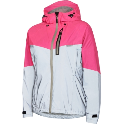 Madison Stellar Reflective Women's Waterproof Jacket, Silver / Pink