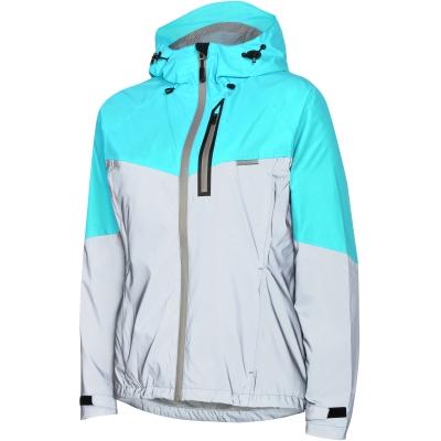 Madison Stellar Reflective Women's Waterproof Jacket, Silver / Aqua Blue
