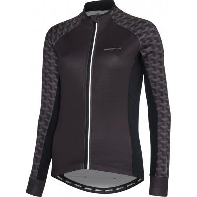 Madison Sportive Women's Long Sleeve Thermal Jersey, Geo Camo Black