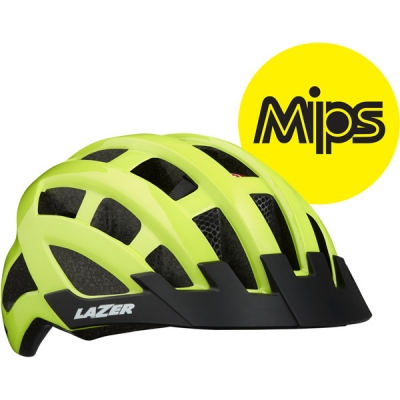 Lazer Compact DLX MIPS Helmet, Flash Yellow