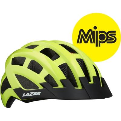 Lazer Compact DLX MIPS Helmet, Flash Yellow