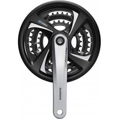 Shimano FC-TX801 Tourney Triple Chainset, 48 / 38 / 28T, 7 / 8-speed