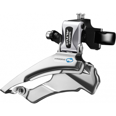 Shimano FD-M313 Altus hybrid front derailleur, conventional swing, dual-pull, multi fit