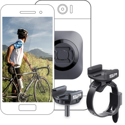 SP Gadgets Phone Bike Bundle - Universal (incl.stem mount, clamp mount, universal interface, adaptors)