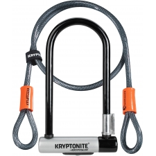 Kryptonite KryptoLok Standard U-lock with 4 foot Krypt...