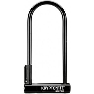 Kryptonite Keeper 12 Long Shackle D Lock, w/Bracket (Sold Secure Silver)
