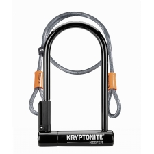 Kryptonite Keeper 12 Standard D Lock With 4ft Flex cab...