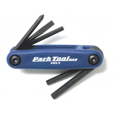 Park Tool Fold-up Hex Wrench and Screwdriver Set (AWS-9.2)
