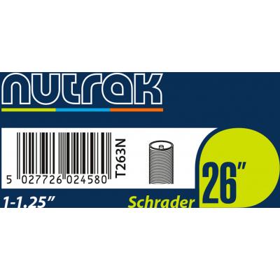 Nutrak 26 x 1 - 1.25 inch inner tube