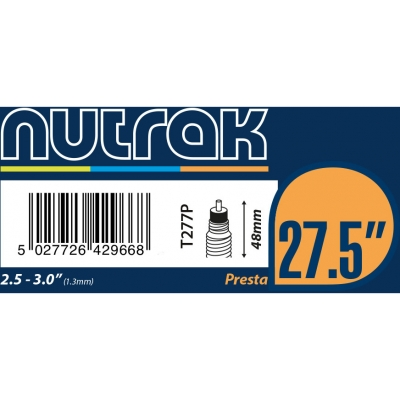 Nutrak 27.5 inch or 650B x 2.5 - 3.0 inner tube (Presta or Schrader Options)