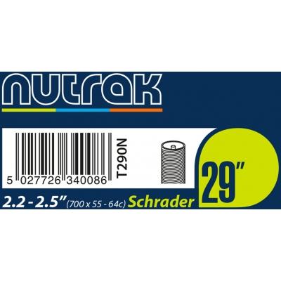 Nutrak 29 x 2.2 - 2.5 inch Schrader inner tube, T290N