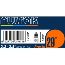 Nutrak 29 x 2.2 - 2.5 inch Presta inner tube, T290P
