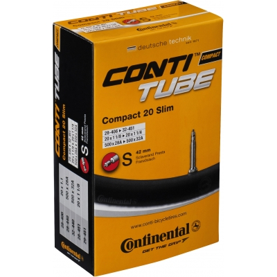Continental Compact 20 x 1 1 / 4 - 1.75 inch Presta inner tube, 42mm valve