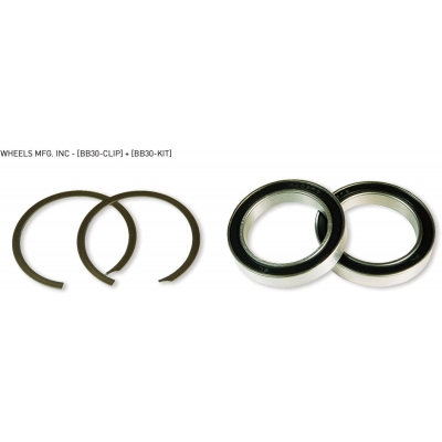 Wheels Manufacturing BB30 service kit with 2 clips and 2 x 6806 angular contact bearings