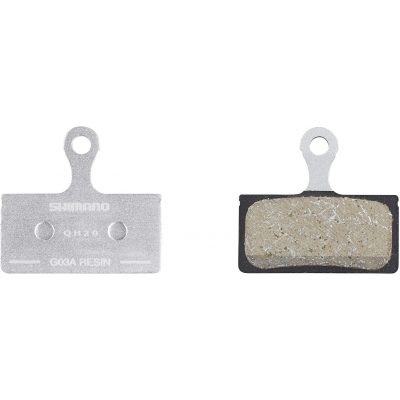 Shimano G03A disc brake pads and spring, alloy backed, resin