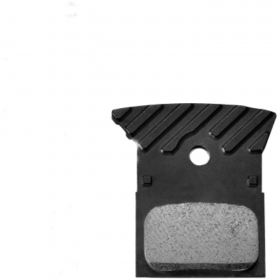 Shimano L02A disc brake pads, alloy backed with cooling fins, resin