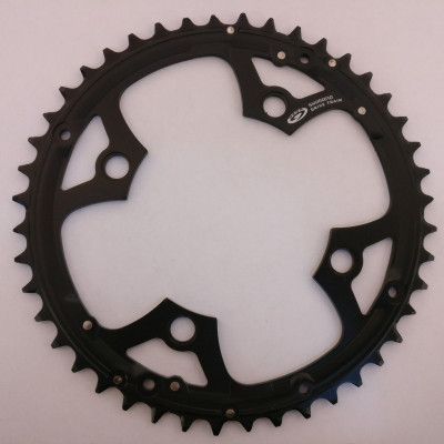 Shimano FC-M540 Deore 44T Chainring, Black (drilled for chainguard)