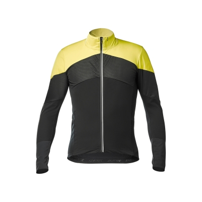 Mavic Cosmic Pro Wind L/S Jersey, Black and Yellow
