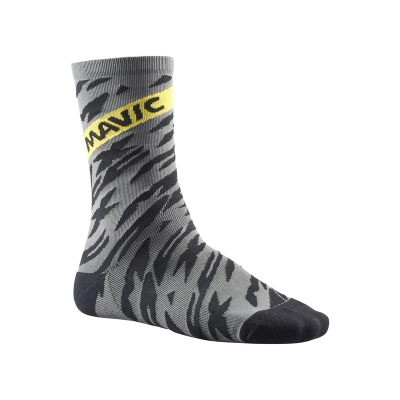 Mavic Deemax Pro High Socks - Smoked Pearl/Black