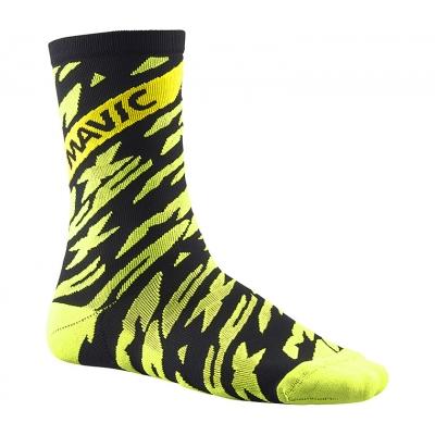 Mavic Deemax Pro High Socks - Safety Yellow/Black
