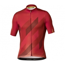 Mavic Cosmic Mosaic Short Sleeve Jersey, Red