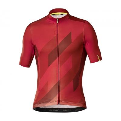 Mavic Cosmic Mosaic Short Sleeve Jersey, Red