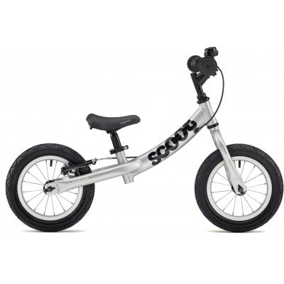 Ridgeback Scoot Beginner Balance Bike, 12in wheel, Silver 2018