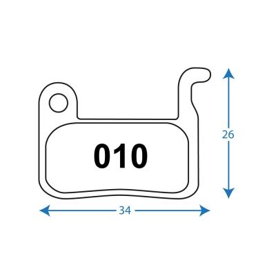 RWD R010 Shimano Sintered Disc Brake Pads