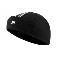 Chapeau! Cotton Cap, Striped Grosgrain, Black