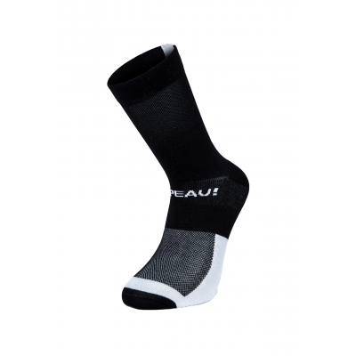 Chapeau! Lightweight Performance Socks, The Marque, Tall, Black/White