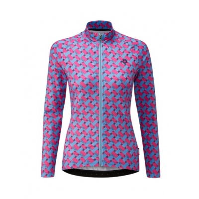 Chapeau! Ladies Madeleine Pattern Thermal Jersey, Hot Pink