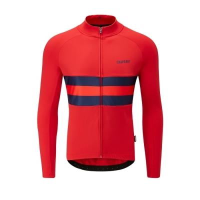 Chapeau! Tempo Hoop II Stripe Long Sleeve Jersey, Devon Red