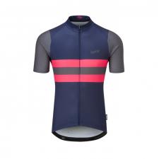 Chapeau! Tempo Jersey Block Stripe, Deep Ocean/Hot Pink