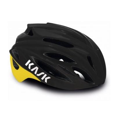 Kask Rapido Road Helmet - Black/Yellow Fluo