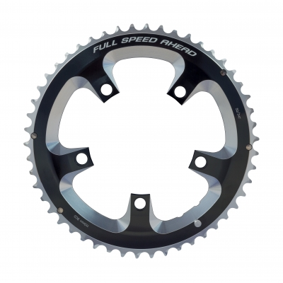 FSA Super Road Chainring (2x11, 110x50T, Black, 5H), 371-0250A