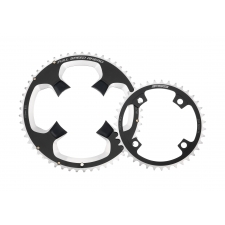 FSA SL-K ABS Road Chainring (2x11, 110x52T, Black, 5h)