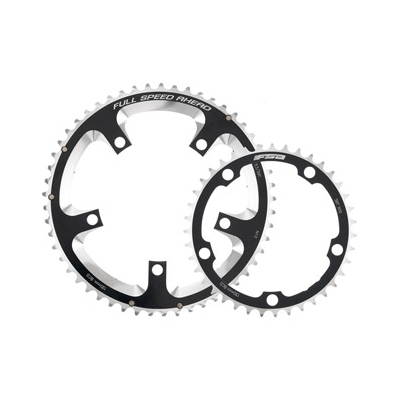 FSA Super Road Chainring (2x11, 110x52T, Black, 5h)
